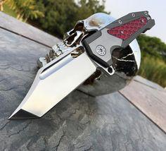 Freak with satin blade - red Ctek #advknives #andredevilliersknives