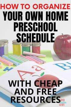 Home Preschool Schedule, Preschool Programs, Preschool At Home, Free Preschool, Preschool Curriculum, Preschool Printables, Preschool Lessons, Preschool Activities, Easy Toddler Crafts