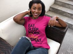 This t-shirt represents the day to day of Mod Lady's EVERYWHERE, because what do we do every. single. day? We EAT, SLEEP, WORK, MOST DEFINITELY SLAY AND REPEAT it all over again!   #modladythingz #modernshirtsforwomen #empoweringwomenquotesshirts #mombossshirts #shirtswithsayingsforwomenquote #mompreneurshirt #girlempoweringshirts #quoteshirtssassy #girlbosstshirt #womenstshirtscasual #bosswomenshirts #mombossshirts #funnyquoteshirtsforwomen #womenentrepreneurshirts #bossladyshirt Team T Shirts, Sorority Shirts, Xmas Shirts, Christmas Shirts, Teacher Outfits, Teacher Clothes, Teacher Shirts, Christian Women, Christian Faith