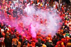 """Holi, known as the """"Festival of Colors"""", is the biggest festival of the year in India. Check out these top places to celebrate holi festival in India and ideas for a memorable time. Holi Festival India, Holi Festival Of Colours, Festivals Of India, Holi Status, Status Hindi, Holi Gift, Holi Messages, Happy Holi Wishes, Holi Images"""