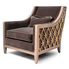 the rastatt ii lounge chair is an upgrade of the regular rastatt chair with inset iron grille work on the sides