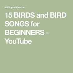 15 BIRDS and BIRD SONGS for BEGINNERS - YouTube Greenfinch, Chaffinch, Bird Calls, House Sparrow, Great Tit, Blue Tit, Goldfinch, Bird Feathers, Photoshop