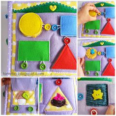 unbutton the shapes on this page . . . each shape is a flap with a picture underneath