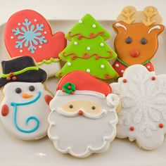 Christmas Winter Holiday Decorated Cookies