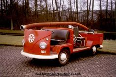 Modified VW Transporter T1 to work as a fire engine...