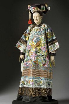 Full length color image of Empress Dowager Tzu Hsi  aka. Empress Dowager Cixi,  Cixi, by George Stuart.