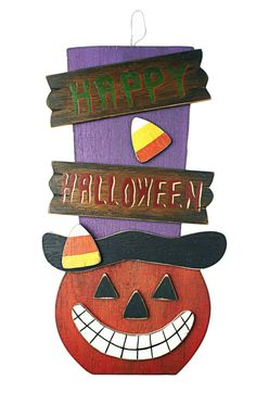 Get this Happy Halloween sign now in stock at Carraig Donn for only €8.95!