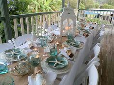 An Australian Coastal Vintage Christmas using our glass floats www.coastalvintage.com.au