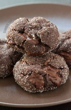 Soft and Chewy Chocolate Gingerbread Cookies – perfect for Christmas and 100% whole grain and dairy-free!