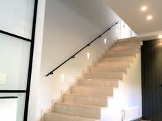 Staircase Handrail, Stairs, Staircase Ideas, Railings, House Plans, Sweet Home, Lights, Home Decor, Houses
