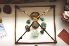 MAY SACRED SPACE — Roots & Feathers -- i have a pyramid very similar to this one on my altar!