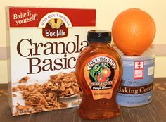 All you need for the most delicious homemade Chocolate Orange Granola!