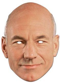 """Partymaske """"Star Trek"""" Captain Jean-Luc Picard"""