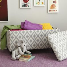 Upholstered Storage Bench w/Feet  | The Land of Nod