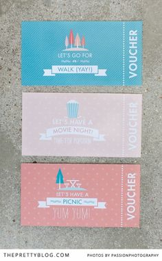 Summer Activity Vouchers | Printables | The Pretty Blog