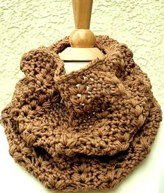 DOWNTOWN WOODLANDS COWL - Extremely Soft and Luxurious 100% Merino Cowl in Caramel