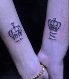King and queen crown cute but would never get a matching tattoo with my significant other..