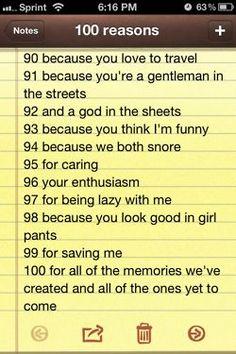 100 reasons why i love you 90-100
