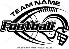 Vector Of Football Team Design With Helmet, Laces And Ball For School,.    Search Clip Art, Illustration, Drawings And Clipart EPS Vector Graphics  Images