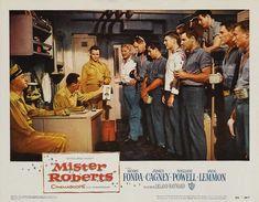 Henry Fonda, Jack Lemmon, Ward Bond, and William Powell in Mister Roberts (1955)