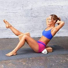 The Lean Back #exercise works your abs, obliques and inner thighs.