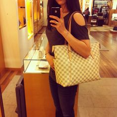 Totally MM in the Damier Azur canvas. Love
