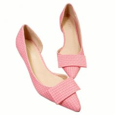 Sweet Women's Pumps With Checked and Pointed Toe Design
