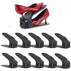 Nastaviteľný organizér na topánky, čierny, sada 50ks | Dekorácie do bytu Organization, India, Getting Organized, Organisation, Tejidos