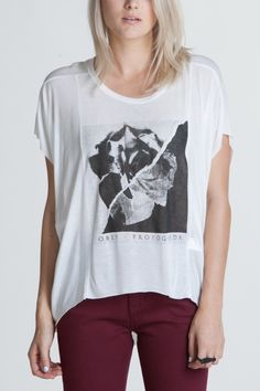 OBEY CLOTHING - OBEY BURN OUT YOUTH STRAIGHT LINE TEE