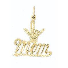 14K GOLD SAYING CHARM - MOM #9708