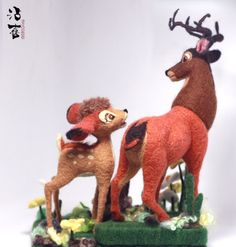 needle felt animal Bambi                                                contact :75749582@qq.com