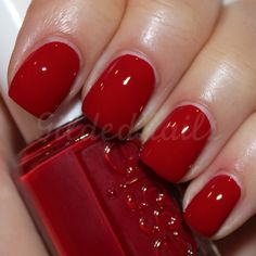 Limited Addiction by essie This might be the perfect red.