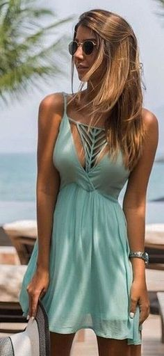 79d69a93f60  spring  summer  fashion  outfitideas Little Mint Dress Cheap Fashion  Clothes