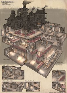 RPG Game Cutaways