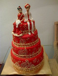 Wonderful #Indian style #wedding #cake