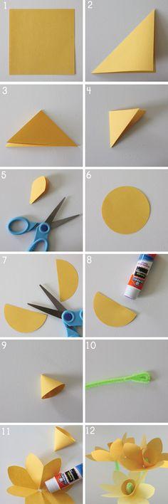 Spring Craft: Make Paper Daffodils | Alphamom