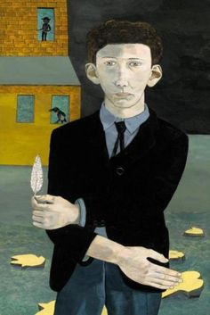 Lucian Freud, Man with a Feather (self-Portrait, age 21), 1943