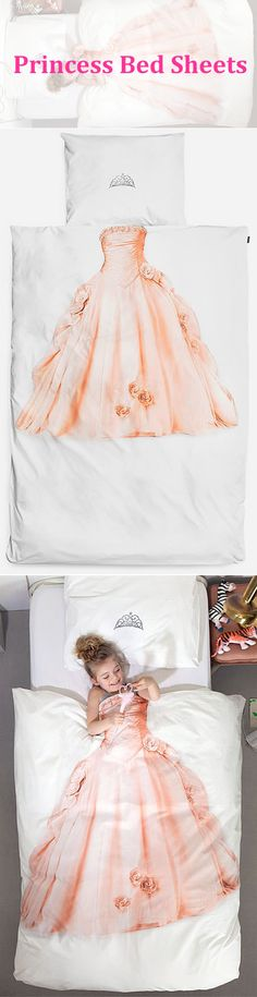 Cute and creative:Princess Bed Sheets. @Shannon Bellanca Bellanca Thibodeau