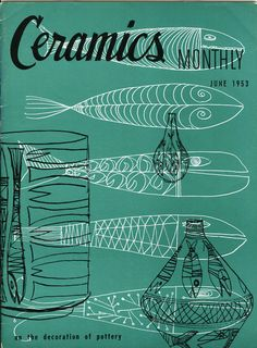 Ceramics monthly magazine covers 1953 - 54)