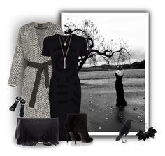 """Black and white autumn"" by elona-makavelli ❤ liked on Polyvore featuring Isabel Marant, McQ by Alexander McQueen, Yves Saint Laurent, Sole Society and Chicnova Fashion"