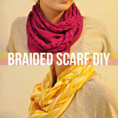 ... crafts on Pinterest by dmv2 | Braided Scarf, No Sew and Scarf Necklace