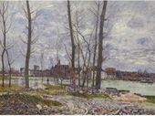 L'Inondation A Moret-Sur-Loing - Alfred Sisley - www.alfredsisley.org