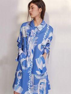 Blue Geometric Dress