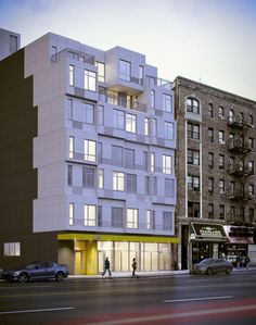 The Stack | GLUCK+  http://www.crainsnewyork.com/article/20130726/REAL_ESTATE/130729901/modular-apartment-building-rises-in-19-days#article_tab
