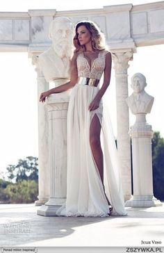 prom dress white prom dress white long dress gown wedding dress lace dress slit dress silver wedding wedding clothes dress beautiful long dress gold sexy white cream dress formal prom white lace prom dress with gold belt white beige