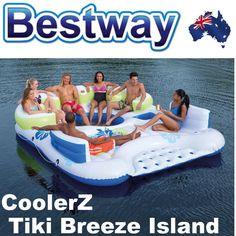 NEW Bestway CoolerZ Tiki Breeze Island Inflatable 7 Person Floating Island