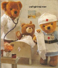 Vintage Teddy / Doll Doctor and Nurse Outfit Knitting PDF Pattern by CraftyKittenCorner on Etsy Nautical Outfits, Santa Outfit, Thing 1, Nursing Clothes, Vintage Knitting, Pattern Books, Teddy Bears, Baby Dolls, Nice Dresses