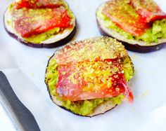 Eggplant avocado toast