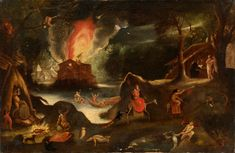 Jacob van Swanenburg - The | Jacob Isaacsz van Swanenburg - Temptation of Saint Anthony