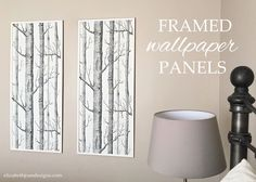 framed wallpaper panels, wall decor Instructions and materials in details Framed Wallpaper, Old Wallpaper, Wallpaper Panels, Textured Wallpaper, Wallpaper Paste, Wallpaper Ideas, Wallpaper Crafts, Wallpaper Murals, Paper Curtain